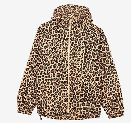 Leopard Patterns Unisex Nylon Street Style Jackets