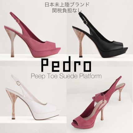 Pedro Formal Style  Bridal Open Toe Platform Casual Style Suede