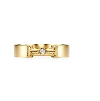Initial Party Style 18K Gold Office Style Elegant Style