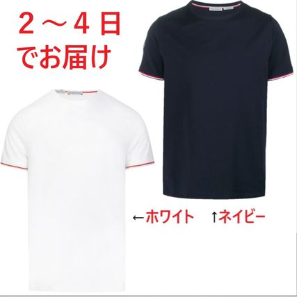MONCLER More T-Shirts Plain Cotton Short Sleeves Logo T-Shirts 10
