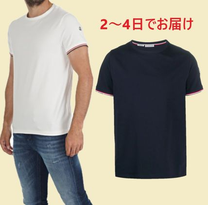 MONCLER More T-Shirts Plain Cotton Short Sleeves Logo T-Shirts