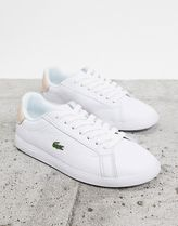 LACOSTE Unisex Plain Logo Low-Top Sneakers