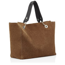 Jimmy Choo Suede 2WAY Plain Office Style Totes