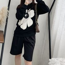 Cable Knit Flower Patterns Street Style Long Sleeves Plain