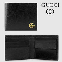 GUCCI Unisex Calfskin Blended Fabrics Street Style