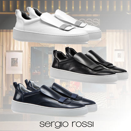Sergio Rossi Plain Leather Loafers & Slip-ons
