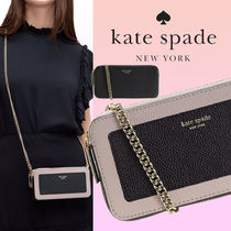 kate spade new york MARGAUX Casual Style Bi-color Plain Leather Party Style Office Style