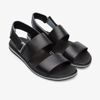 Street Style Leather Sport Sandals Strap Sandals