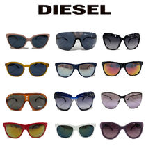 DIESEL Unisex Street Style Round Square Tear Drop Combination Frame