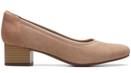 Clarks Open Toe Suede Leather Party Style Office Style