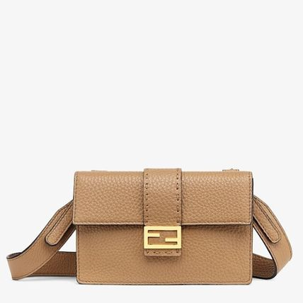 FENDI SELLERIA Unisex Calfskin 2WAY Plain Small Shoulder Bag Clutches