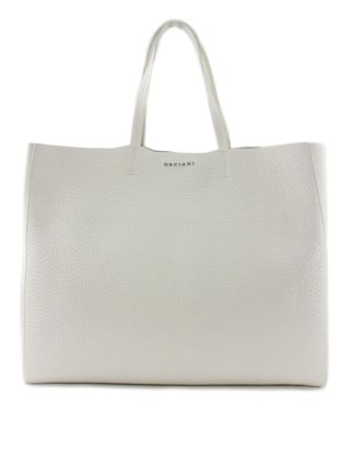 Casual Style A4 Plain Leather Office Style Totes