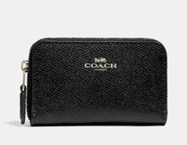 Coach Monogram Canvas Leather Coin Cases