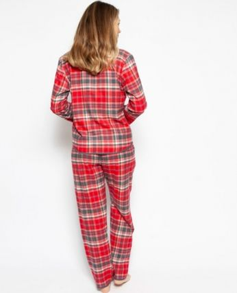 Other Plaid Patterns Co-ord Front Button Loungewear