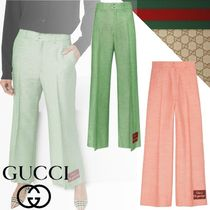 GUCCI Casual Style Plain Long Office Style Elegant Style