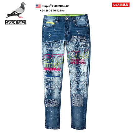 Tapered Pants Printed Pants Monogram Unisex Denim