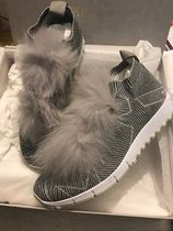 Jimmy Choo Star Round Toe Rubber Sole Casual Style Street Style