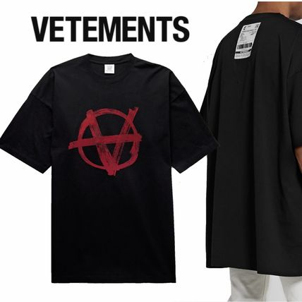 VETEMENTS More T-Shirts Street Style Cotton Short Sleeves Logo T-Shirts