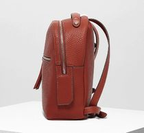 FIORELLI Flower Patterns Casual Style Faux Fur Logo Backpacks
