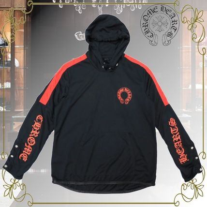 CHROME HEARTS Hoodies Pullovers Unisex Long Sleeves Logos on the Sleeves Logo