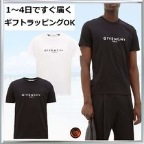 GIVENCHY Crew Neck Street Style Plain Cotton Short Sleeves Logo