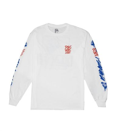 Crew Neck Pullovers Tropical Patterns Unisex Street Style