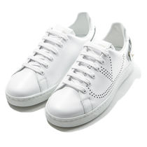 VALENTINO BACKNET Casual Style Street Style Leather Low-Top Sneakers