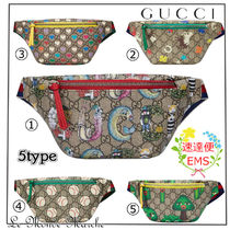 GUCCI GG Supreme Monogram Casual Style Street Style Collaboration 2WAY