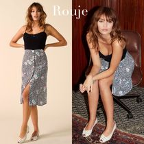 Rouje Flower Patterns Elegant Style Skirts