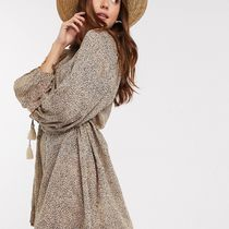 WHISTLES Leopard Patterns Fringes Oversized Beach Cover-Ups