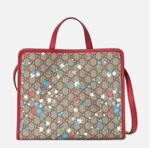 GUCCI GG Supreme Unisex Street Style Collaboration Kids Girl Bags