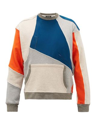 Crew Neck Unisex Nylon Street Style Bi-color Long Sleeves