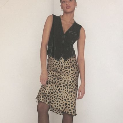Pencil Skirts Leopard Patterns Casual Style Skirts