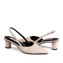 RACHEL COX Leather Heeled Sandals