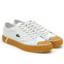 LACOSTE Casual Style Logo Low-Top Sneakers