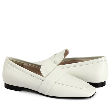 Square Toe Leather Loafer & Moccasin Shoes