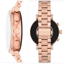 Michael Kors Casual Style Blended Fabrics Round Stainless With Jewels