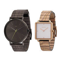 WeWOOD Casual Style Round Square Quartz Watches Analog Watches