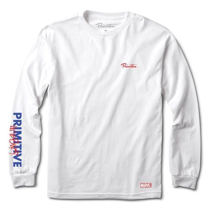 Crew Neck Pullovers Street Style Collaboration Long Sleeves