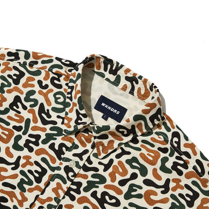 WKNDRS Shirts Camouflage Unisex Street Style Plain Cotton Short Sleeves 7