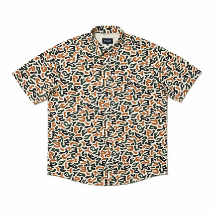WKNDRS Shirts Camouflage Unisex Street Style Plain Cotton Short Sleeves 8