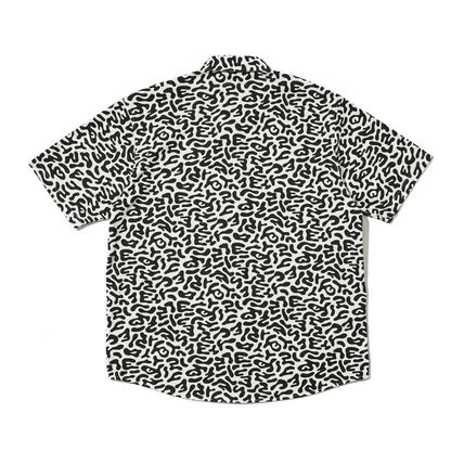 WKNDRS Shirts Camouflage Unisex Street Style Plain Cotton Short Sleeves 17