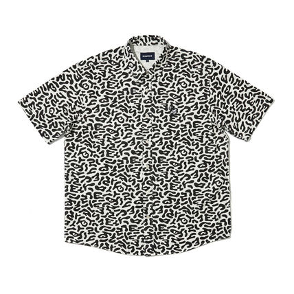 WKNDRS Shirts Camouflage Unisex Street Style Plain Cotton Short Sleeves 18