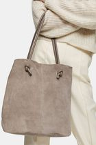 TOPSHOP Casual Style Plain Leather Office Style Totes