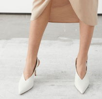 & Other Stories Casual Style Leather Pin Heels Party Style Office Style