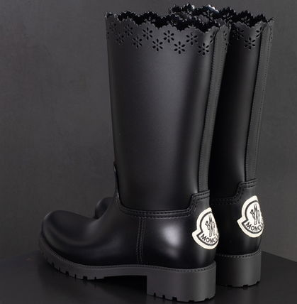 Collaboration PVC Clothing Mid Heel Boots