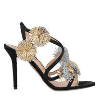 Charlotte Olympia Open Toe Round Toe Plain Leather Pin Heels Party Style
