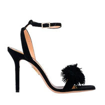 Charlotte Olympia Open Toe Round Toe Suede Plain Pin Heels Party Style Fringes