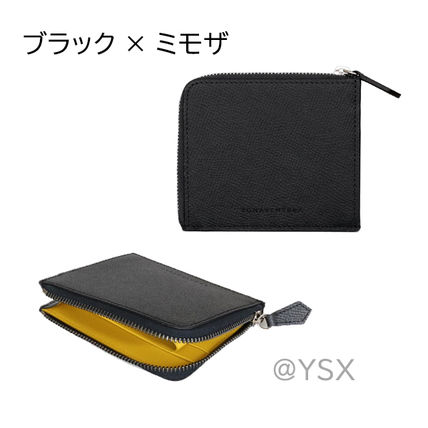 Unisex Plain Leather Long Wallet  Small Wallet Logo