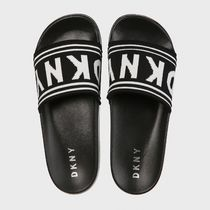 DKNY Casual Style Street Style Shower Shoes Logo Flat Sandals
